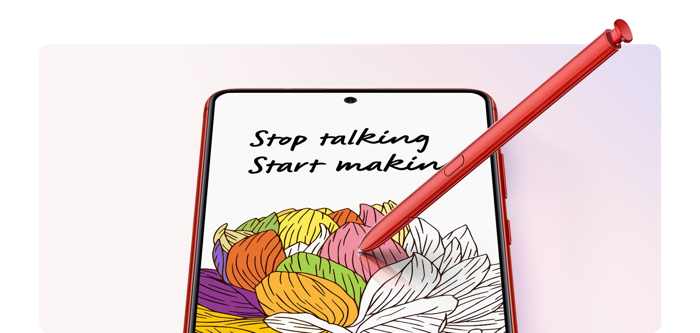 Galaxy Note10 Lite comes with S Pen - your smartphone magic wand to do inspiring sketch or timely written note.