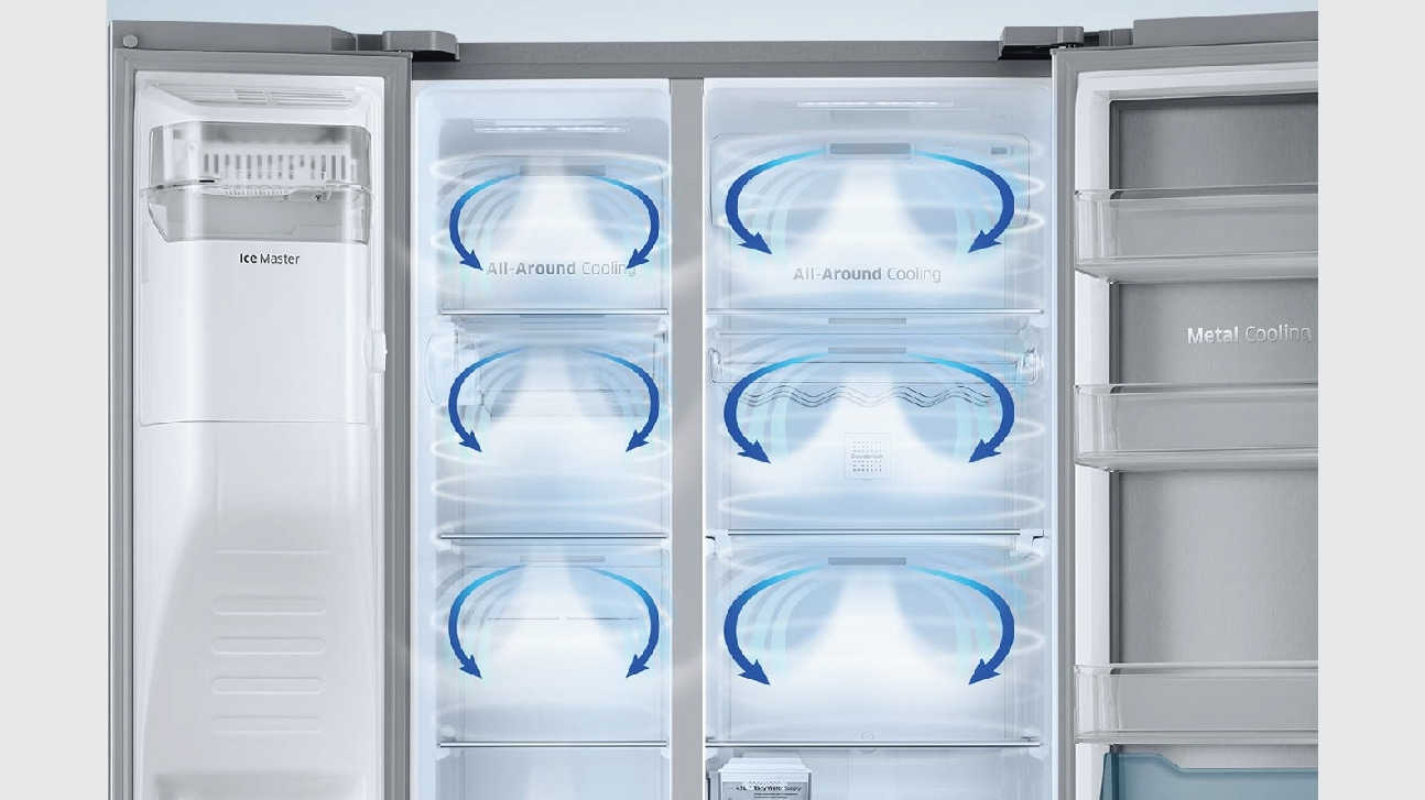 Fridge with all around cooling
