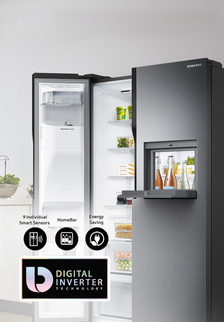 Samsung 604l Side By Side Refrigerator Rs55k50a02c