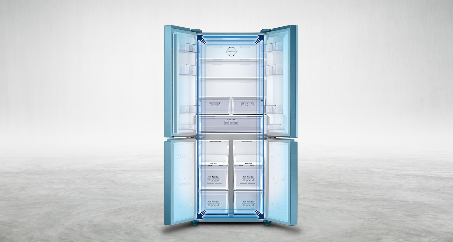 Samsung French Door Refrigerator with Spacious Interiors