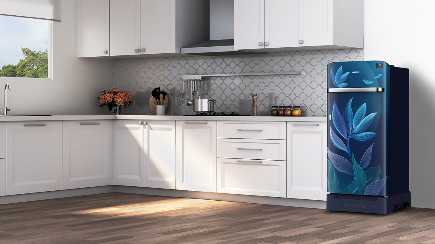 Single Door Refrigerator - Horizontal Curve Design