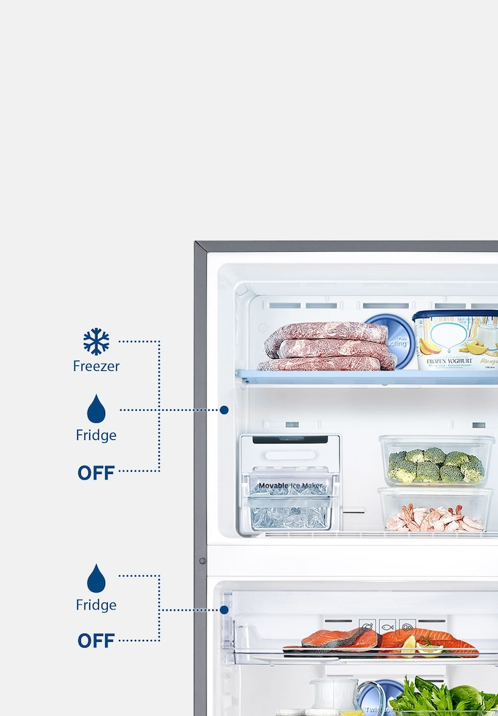 Double Door Refrigerators with 5 in 1 Convertible Modes