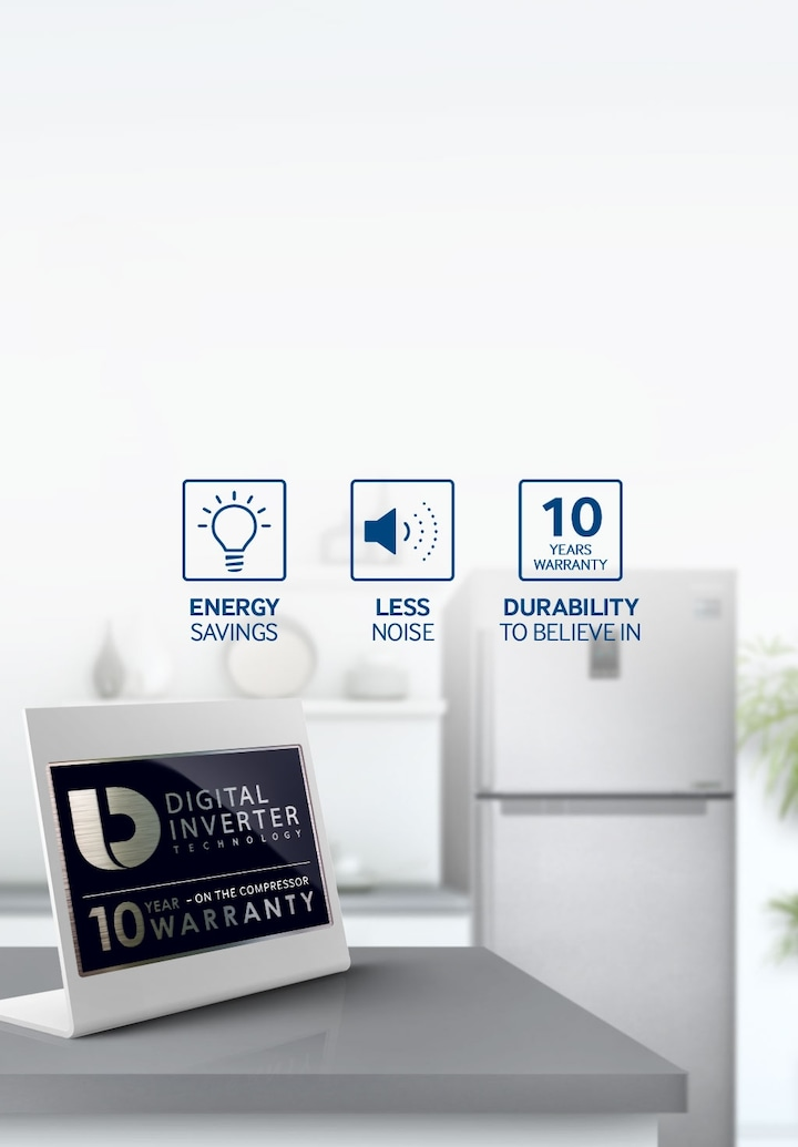 Double Door Fridge with Digital Inverter Technology