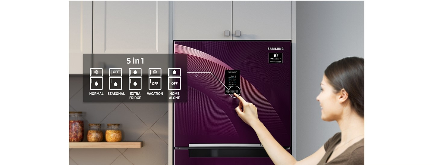 Samsung Top Mount Refrigerator - 5 in 1 Covertible Mode