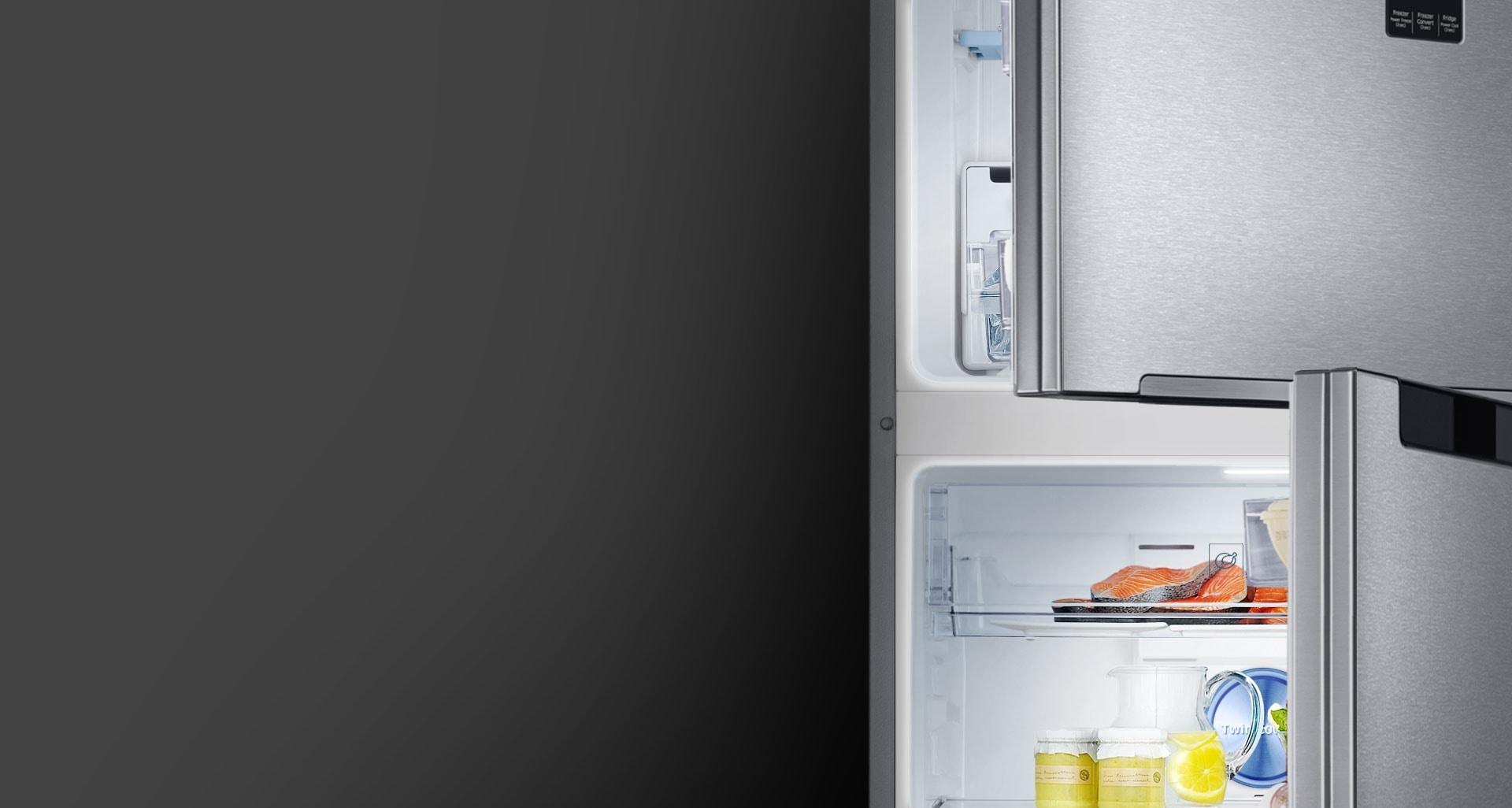 Samsung 2 door Fridge with High efficiency LED lighting