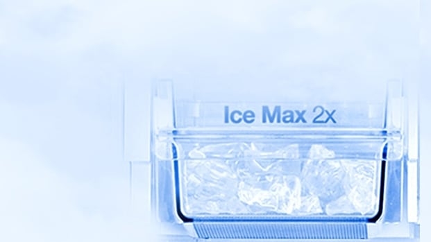 Refrigerator with more ice