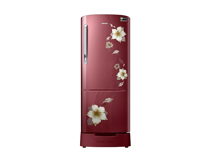 215 L Single Door 3 Star Refrigerator (RR22N383ZR2/HL, Star Flower Red)