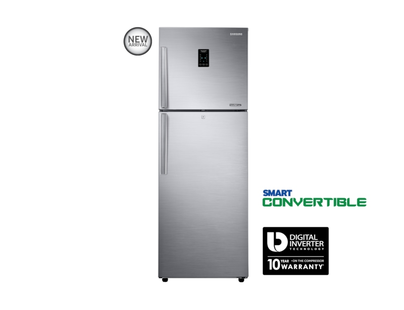 Top Mount Freezer Refrigerator Silver colour