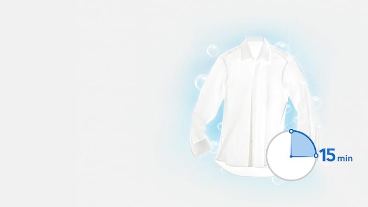 صرفه جویی در زمان برای شستشوی لباس کمتر