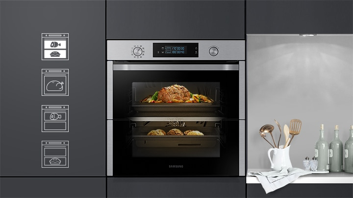Forno Multifunzione Dual Cook Flex™ NV75N5641BS | Samsung IT
