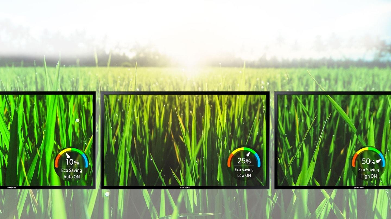 La tecnologia Samsung Eco-saving consente di ridurre i consumi e limitare l'impatto ambientale