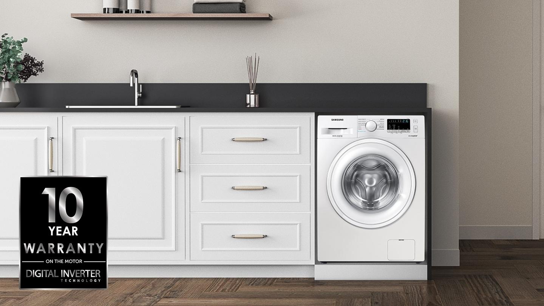 lavatrice con scritta Tecnologia Digital Inverter