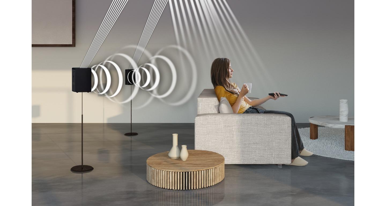 Up-firing speaker inclusi