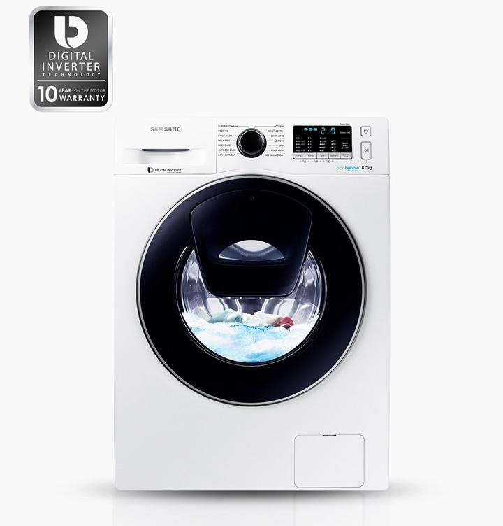 Lavatrice addwash ww70k5410ww samsung italia for Motore inverter lavatrice