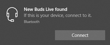 Show New Buds Live found Connect UI