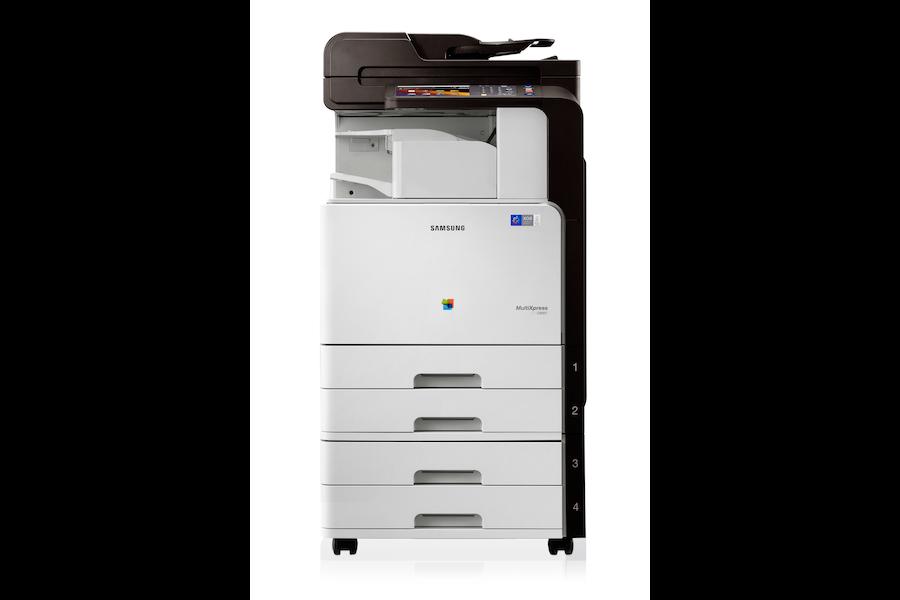 CLX-9301NA Multifunzione a Colori (30 ppm) 9301NA Vista frontale Argento