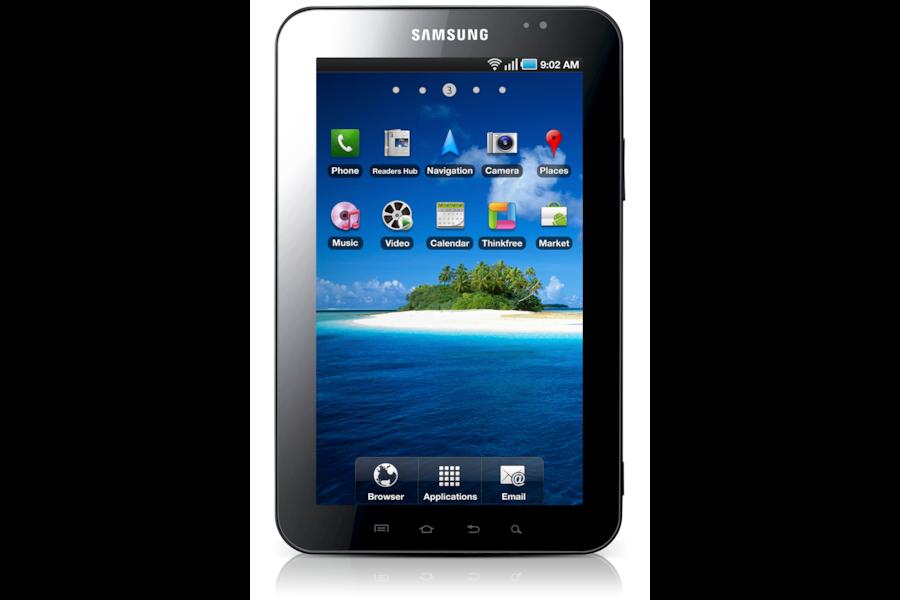 Galaxy Tab (7.0, 3G) P1000 Vista frontale