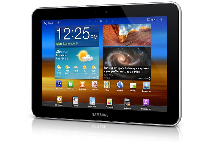 Galaxy Tab (8.9, 3G) P7300/M16 Vista angolo destro