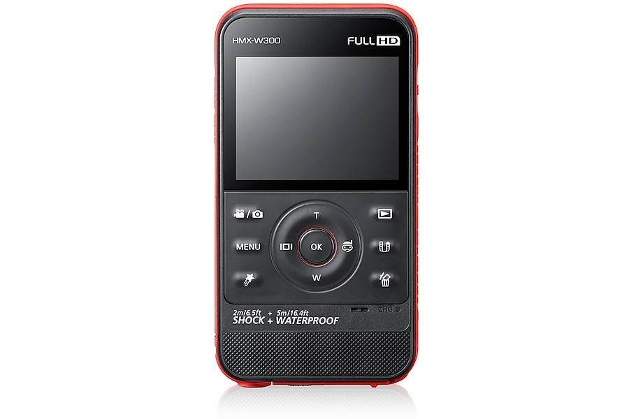 HMX-W300RP Vista frontale Rosso