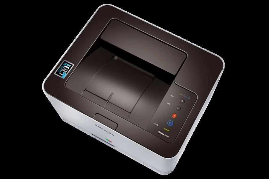 Stampante Laser a colori Xpress C410W (18 / 4 ppm) C410W Top ice Argento