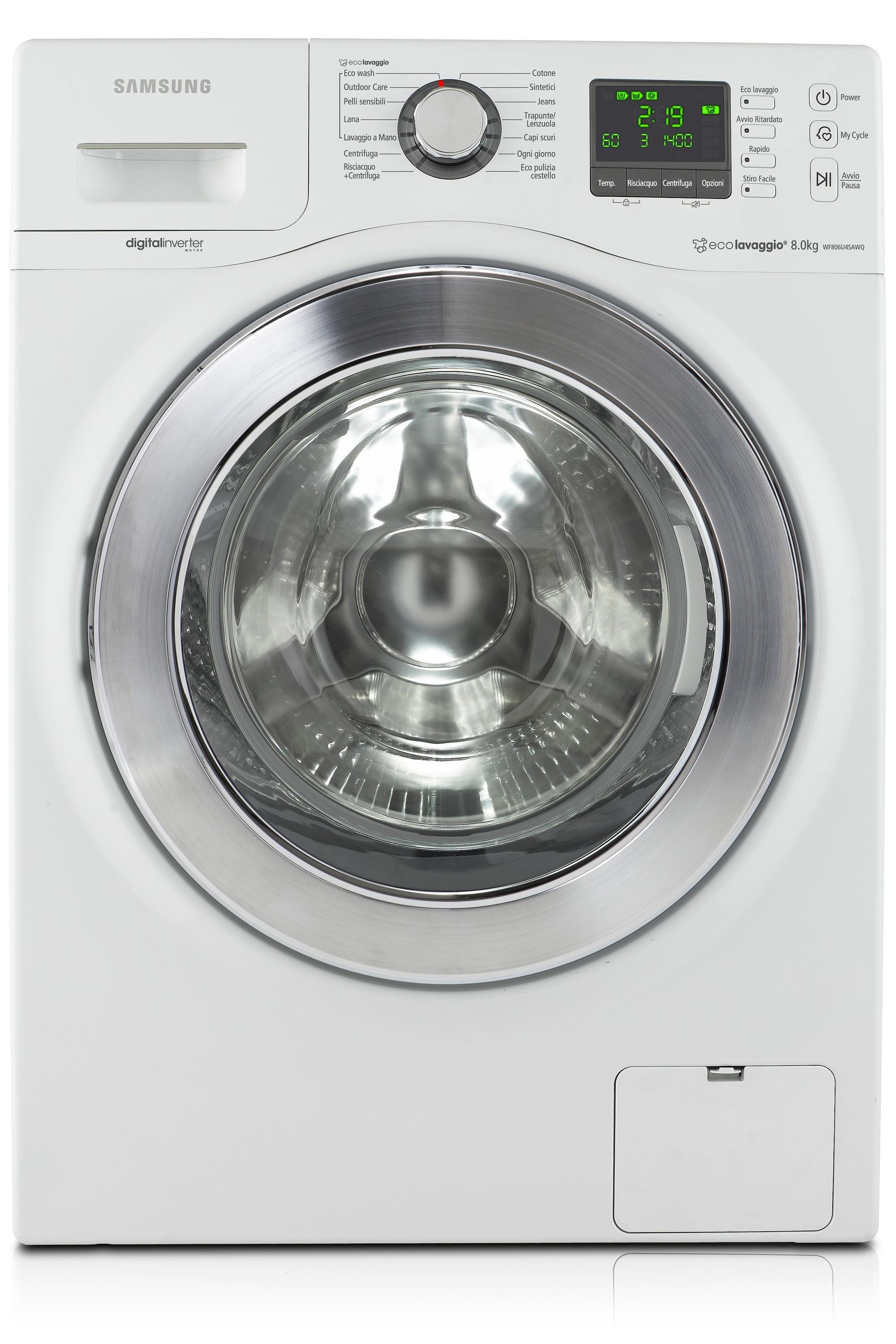 Seine Washer with Eco Bubble, 8 kg, White