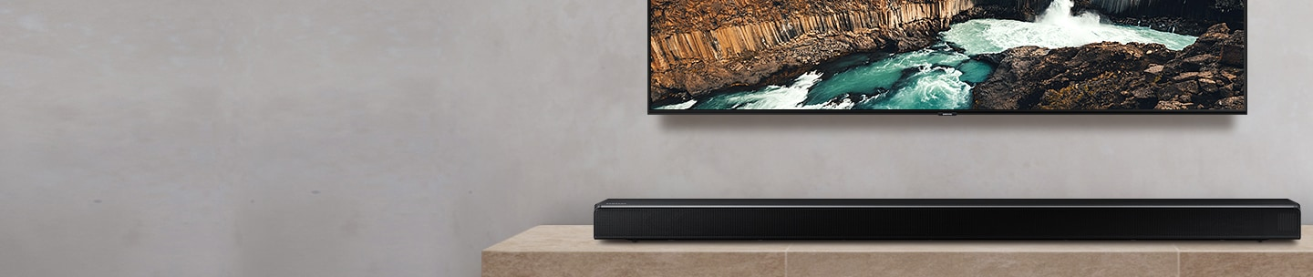 Soundbar optimized for QLED