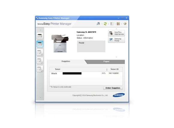 Диспетчер заданий печати Easy Printer Manager