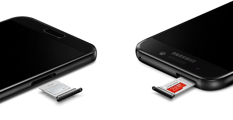 Ranura para tarjeta SD del Galaxy A5 (2017).