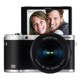 NX300M Front Display Up 18-55 mm Black