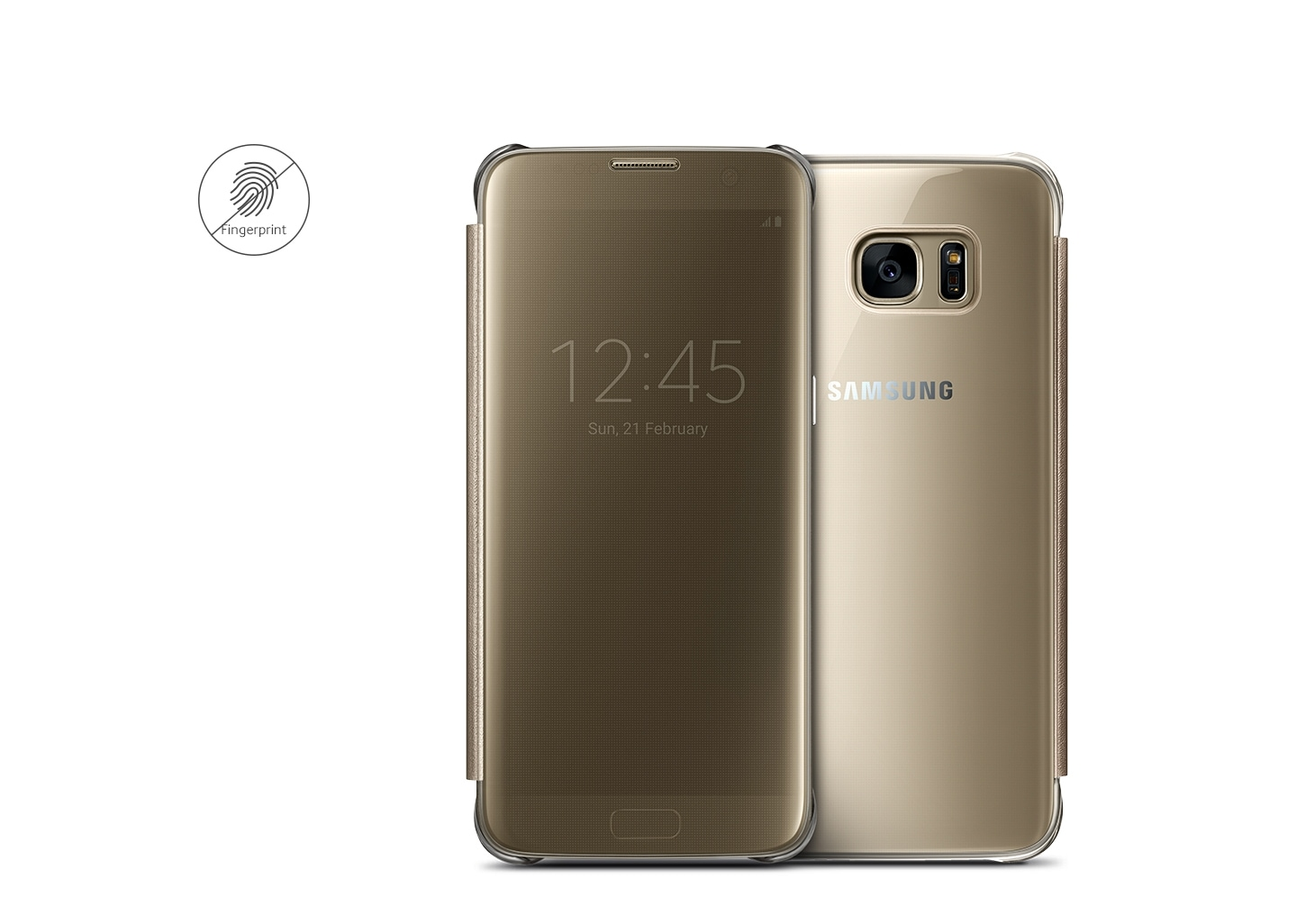 custodia samsung s7 edge clear view