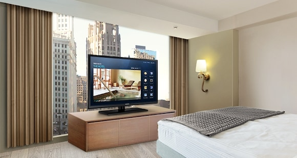 Enhance guest room ambience with advanced hospitality displays