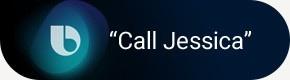 "Bocadillo que dice ""Llama a Jessica"""