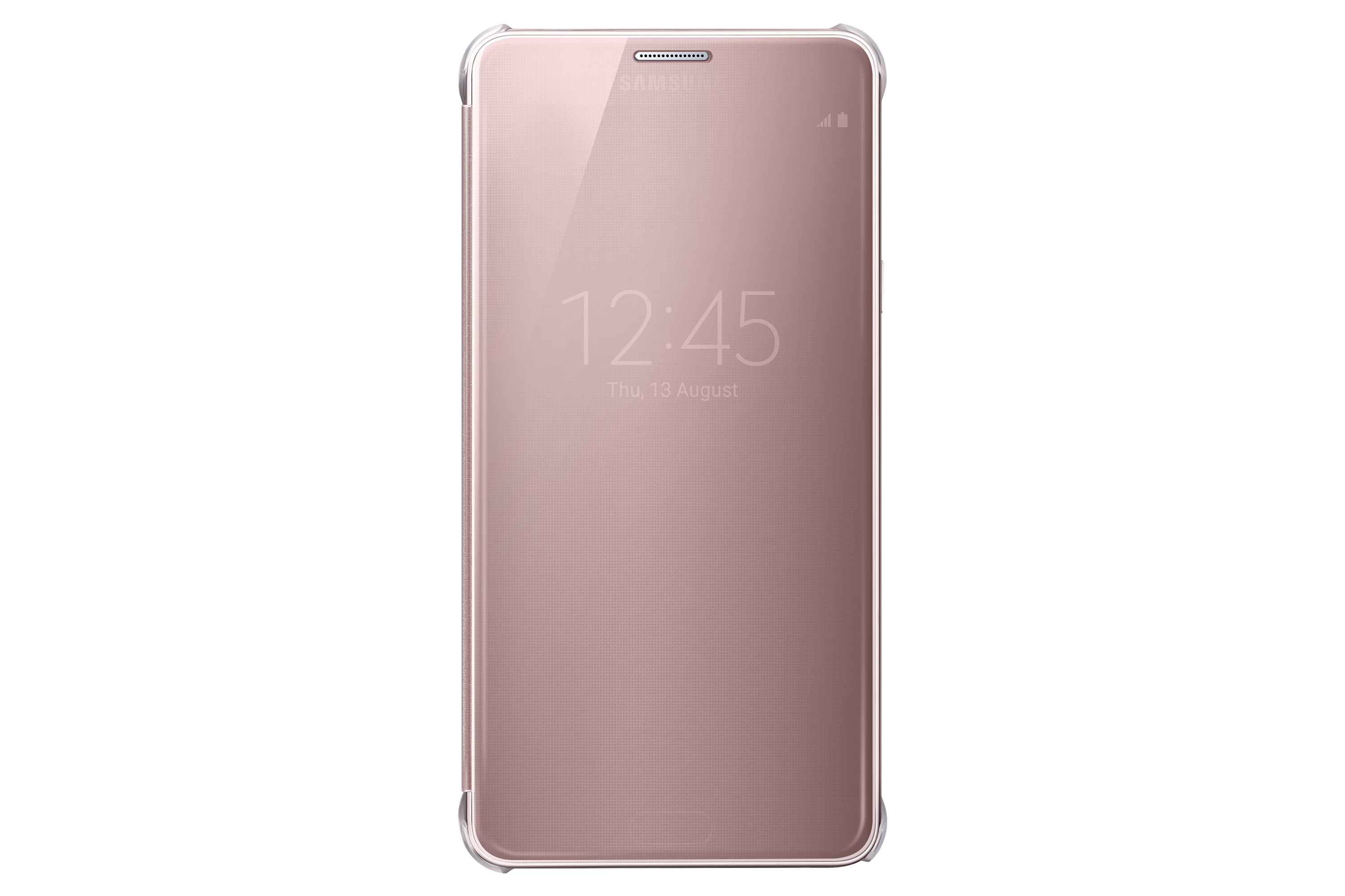 Note 5 Clear View Cover  Gold