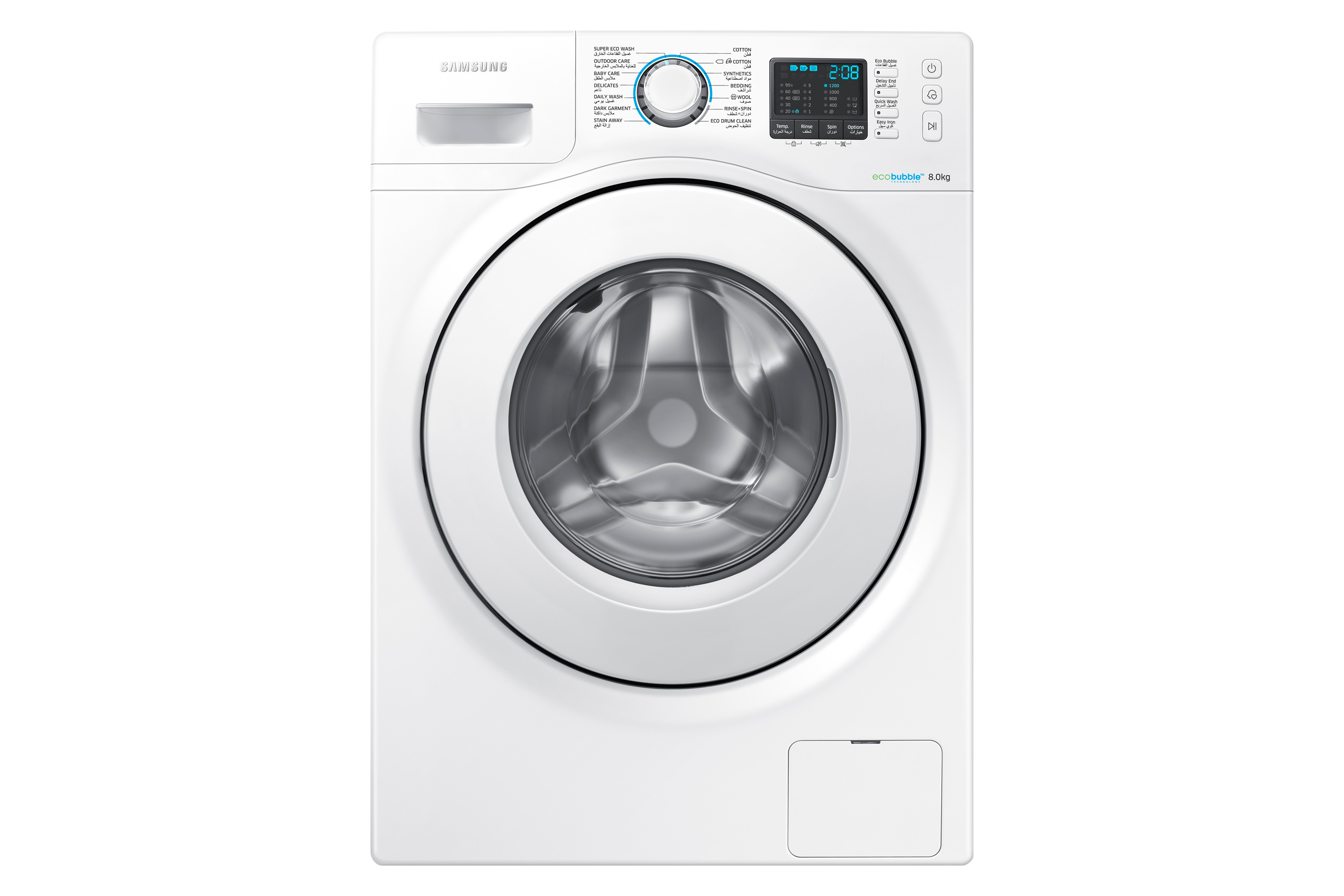 WW5000H Washer with Big Crystal Blue Door, 8 kg