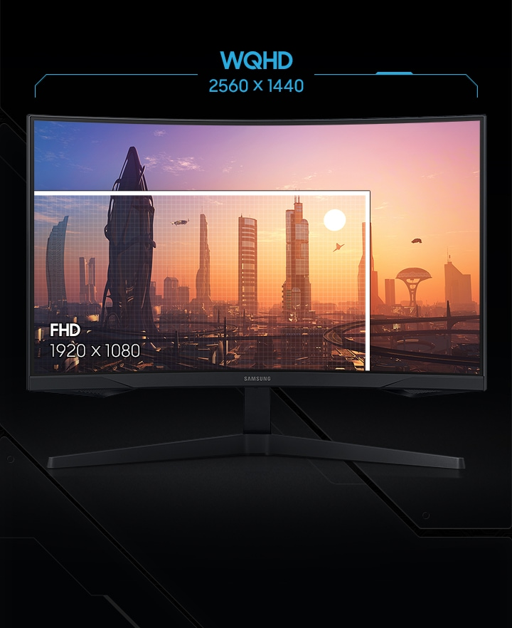 Samsung LC27G55TQWNXZA WQHD 144HZ 1MS Freesync HDR10 Monitor with 1000R Curvature