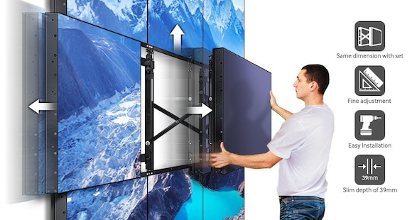 A Slim, Easily Configurable Wall Mount Adaptive to your Business Needs