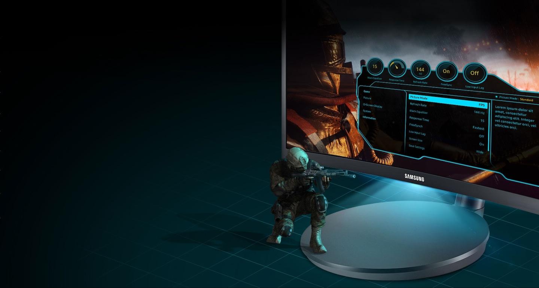 Menu estilo OSD y luz Led interactiva que aumentan la diversión