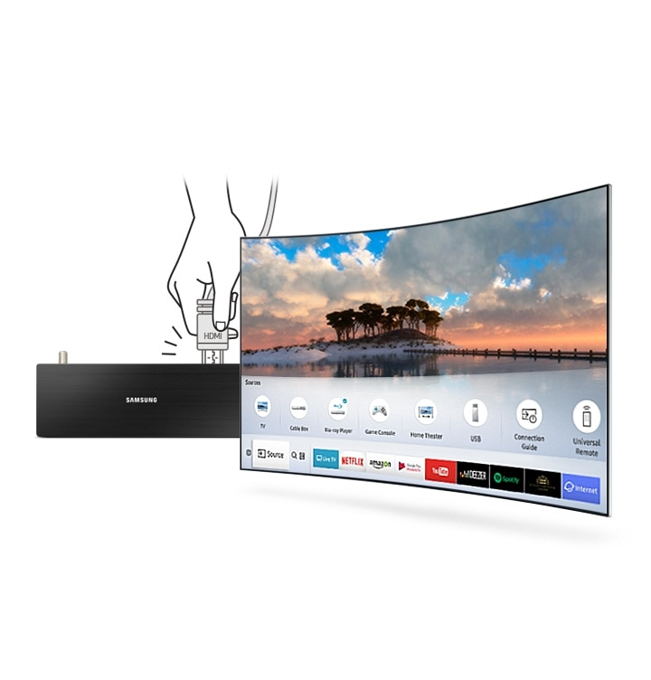 M6300 Curved Smart Full HD TV: Auto detection