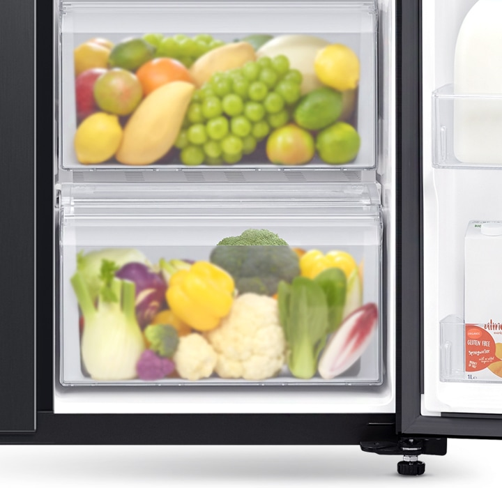 Easily store more vegetables & fruit