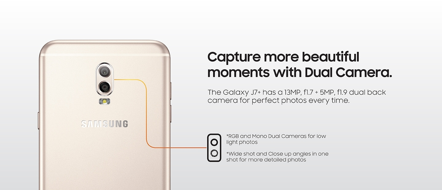 Capture more beautiful moments with Dual Camera