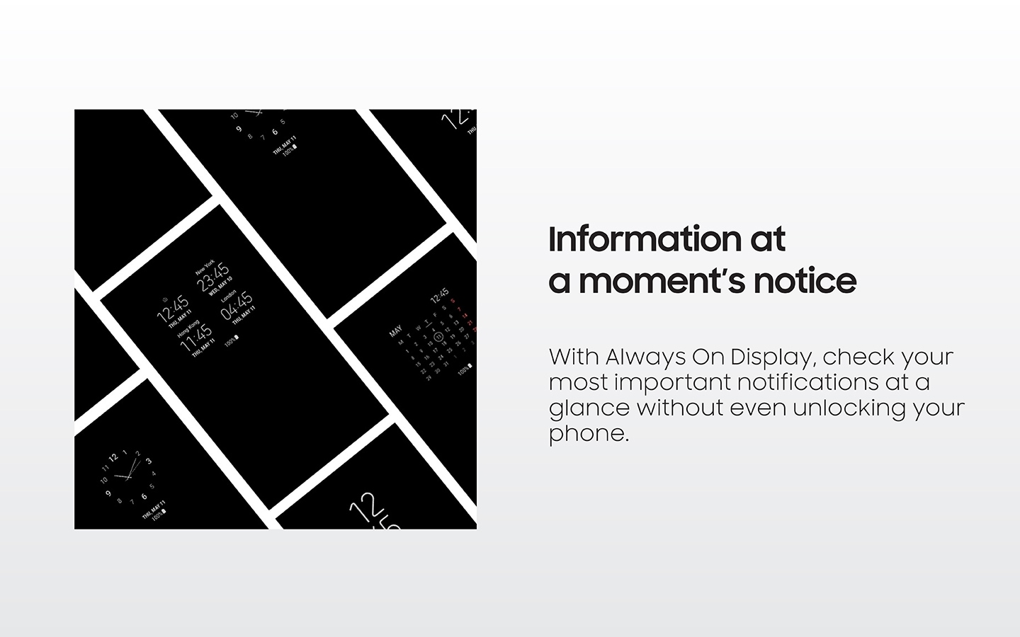Always on Display - Information at a moment's notice
