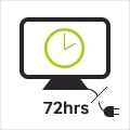 72-hour clock backup