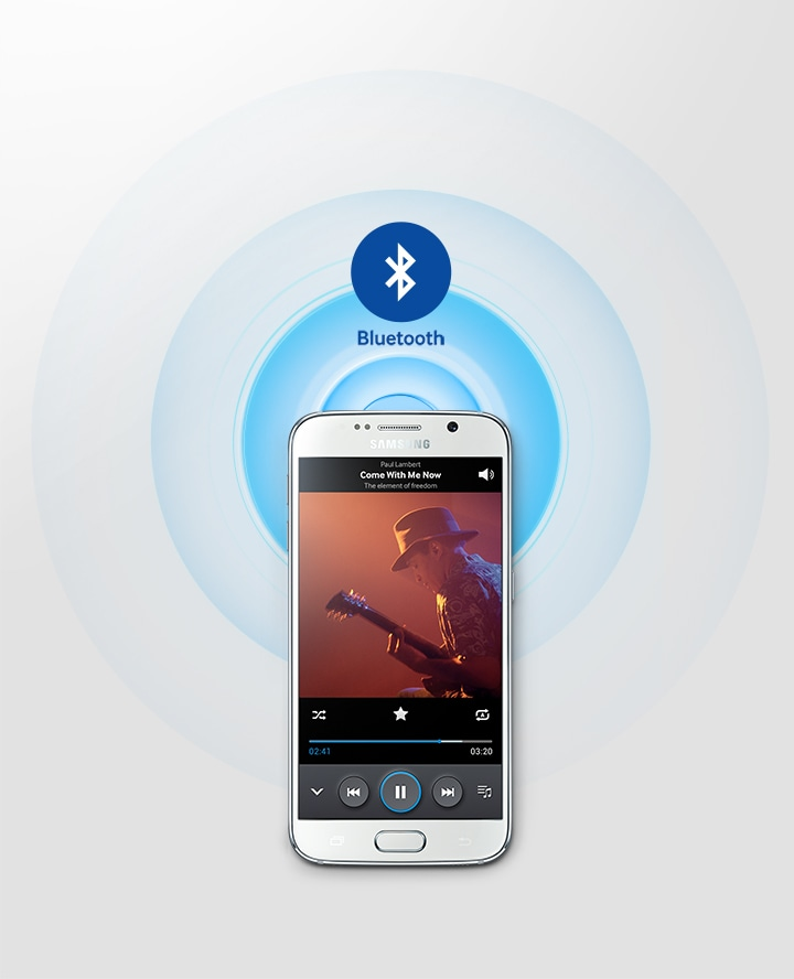 Music streaming service via Bluetooth