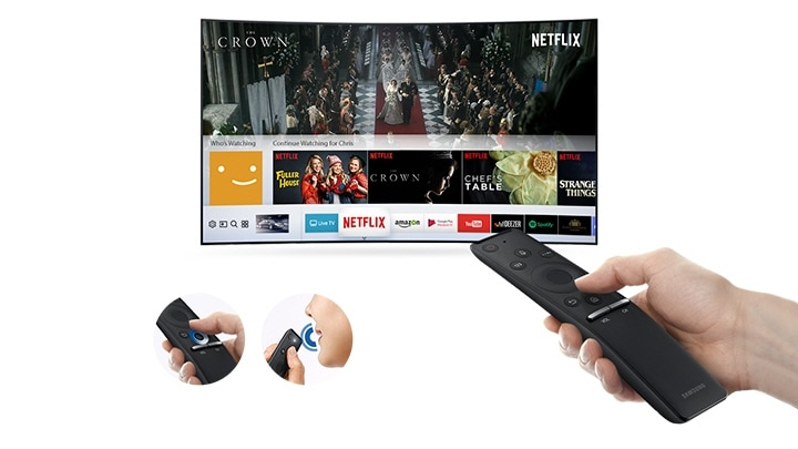 M6300 Curved Smart Full HD TV: One remote control