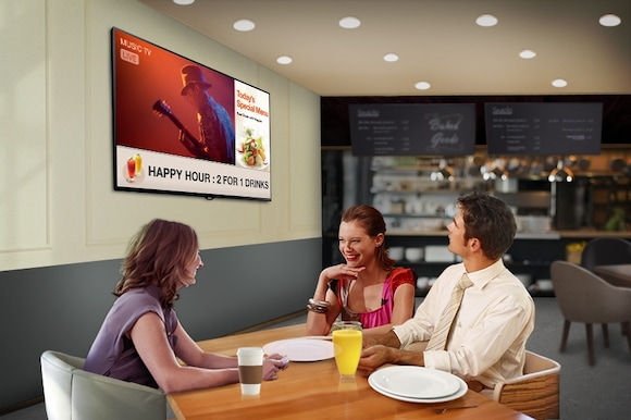 A perfect combination of TV and digital signage to boost your business