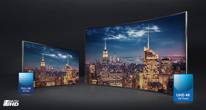 JU6000 Smart 4K UHD TV: 4 times the Full HD resolution