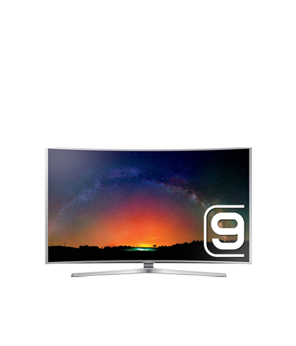 "65"" JS9000 4K Curved Smart SUHD TV: Front Silver"