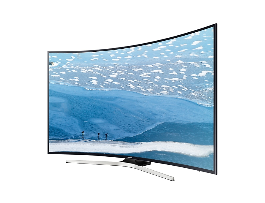 "55"" KU6300 Curved Smart 4K UHD TV: R Perspective Black"