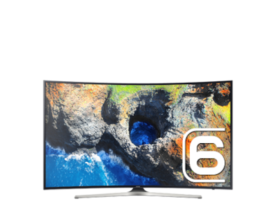 "55"" MU6300 Curved Smart 4K UHD TV: Front Black"