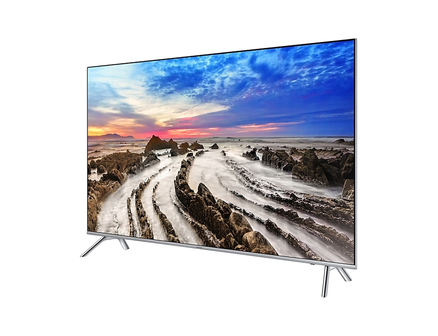 "65"" MU7000 Smart 4K Premium UHD TV: R Perspective Silver"